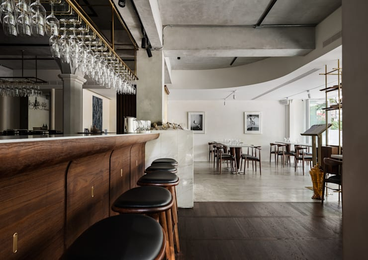 Bar + Dining Area:  酒吧&夜店 by 鄭士傑室內設計