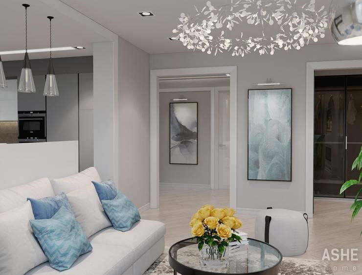 Квартира по ул. Зорге, г. Уфа: Гостиная в . Автор – Студия авторского дизайна ASHE Home