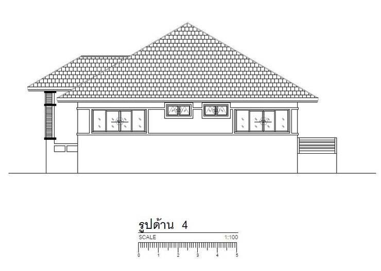 บ้านพักอาศัย 1 ชั้นยกพื้น 1.20 ม:   by รับเขียนแบบบ้าน