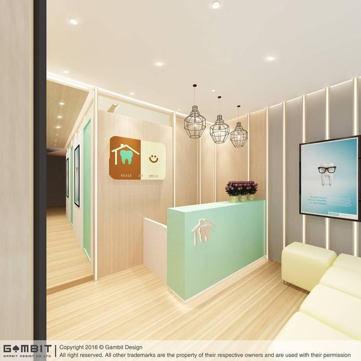 Reception Area:   by GAMBIT DESIGN CO.,LTD
