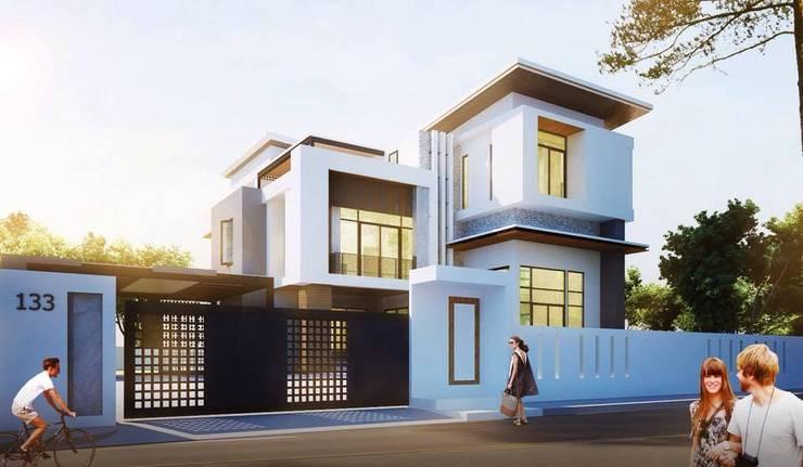 บ้านเดี่ยว 3 ชั้น:   by Adapstudio