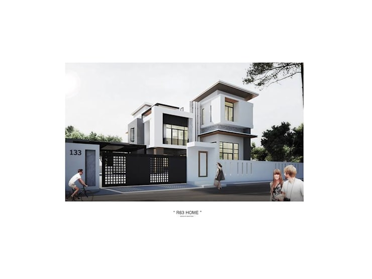 บ้านเดี่ยว 3 ชั้น:  บ้านและที่อยู่อาศัย by Adapstudio