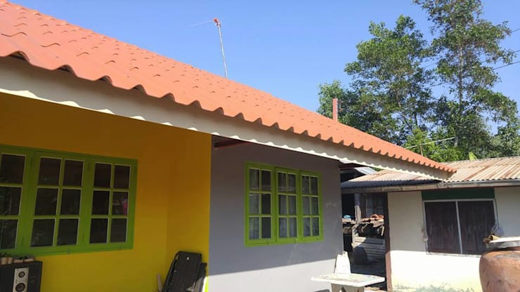 บ้านดอนค้อ :  หน้าต่าง by Mor Architect