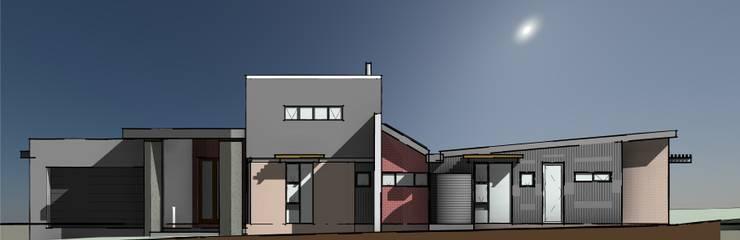 Street Facade:  Houses by Architects Unbound (Pty) Ltd., Modern Bricks