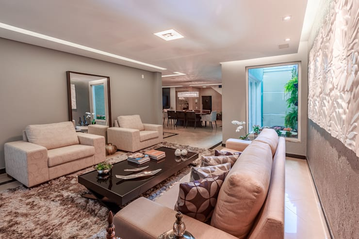 Living room by Das Haus Interiores - by Sueli Leite & Eliana Freitas