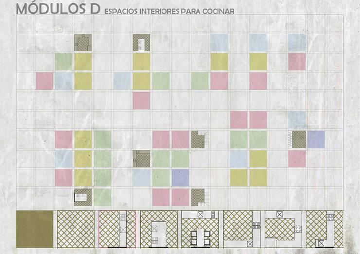 Unidades Mínimas Habitables: Cocinas de estilo  por gOO Arquitectos