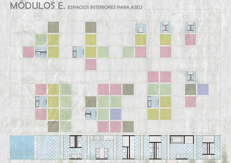 Ванные комнаты в . Автор – gOO Arquitectos, Лофт