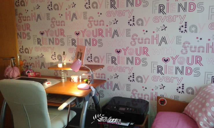 Quarto menina: Quarto de crianças  por Palma Interiores