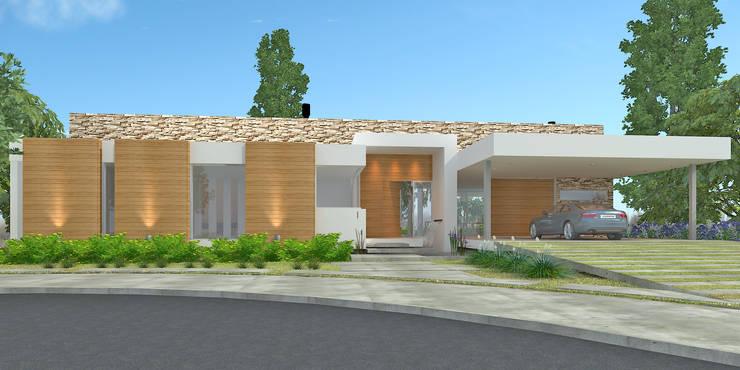 Vivienda RS - Cipolletti, Río Negro: Casas de estilo  por ARKIZA