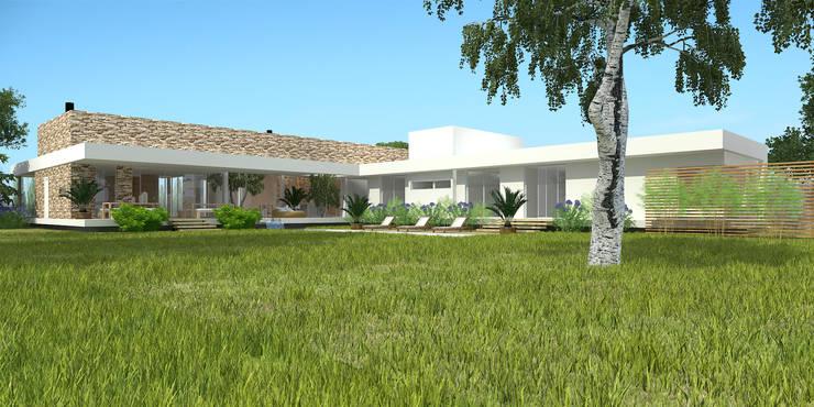 Vivienda RS – Cipolletti, Río Negro: Casas de estilo  por ARKIZA
