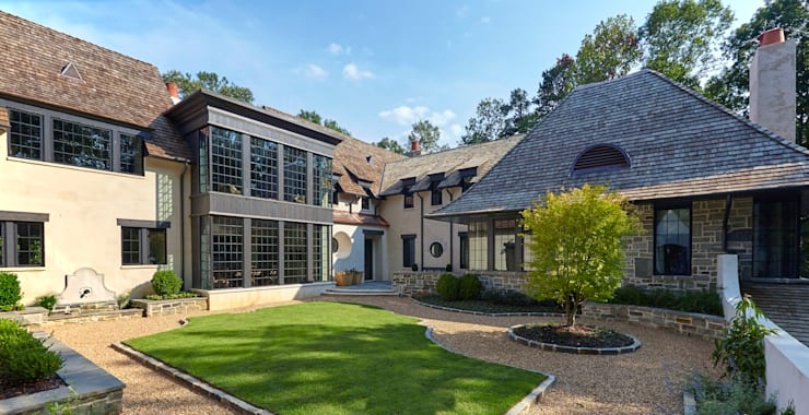 French Normandy Indian Springs Home: classic Houses by Christopher Architecture & Interiors