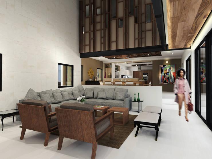 Sala de Estar: Salas de estilo  por Constructora e Inmobiliaria Catarsis