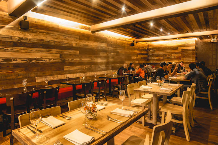 Restaurant Chullpi - Machupicchu: Comedores de estilo  por FRANCO CACERES / Arquitectos & Asociados