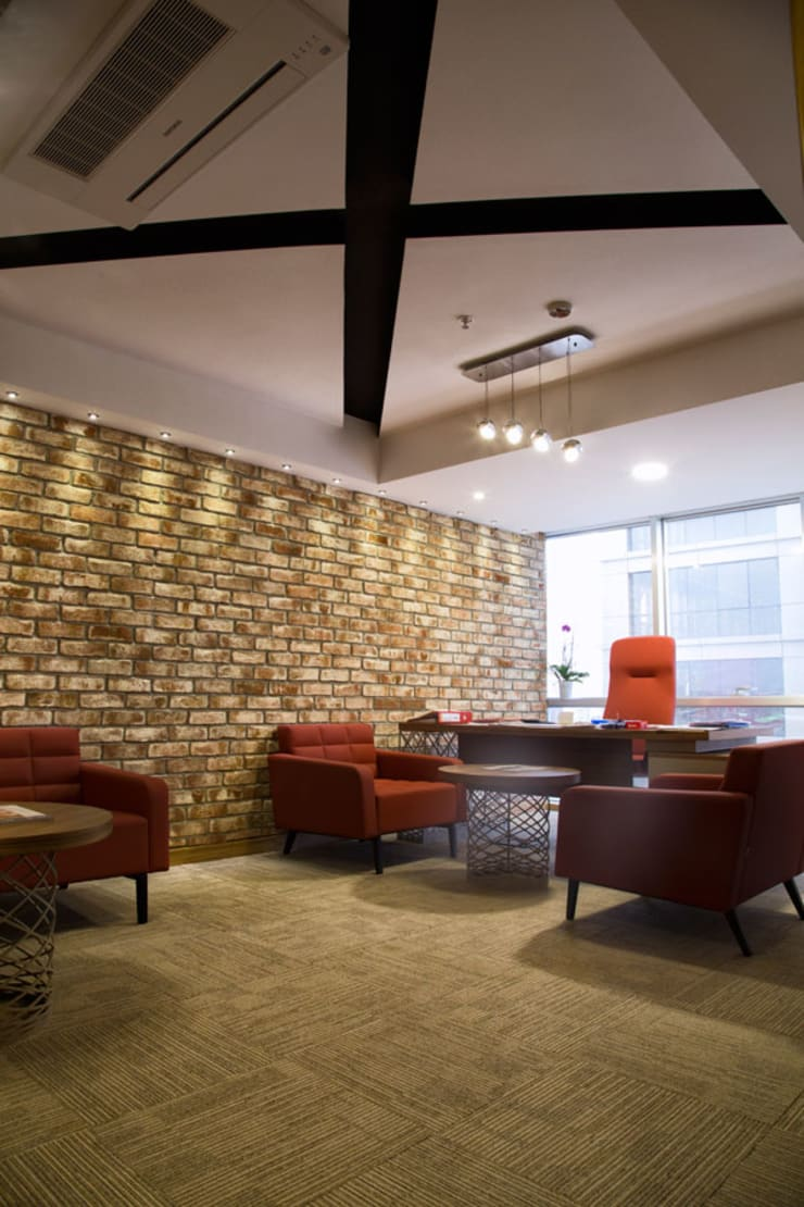 Mozeta Mimarlık – Cetaş İnşaat Yönetim Ofisi: modern tarz , Modern