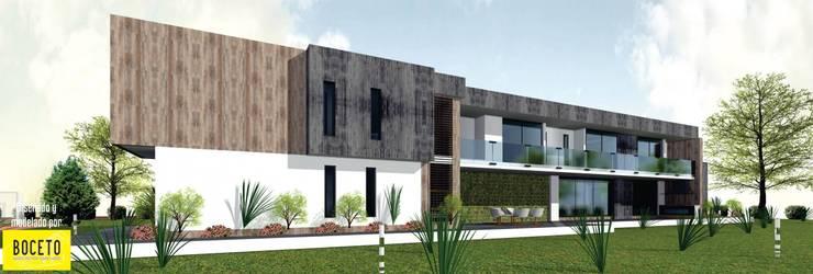 Boceto Casa Moderna : Casas de estilo moderno por BOCETO ARQUITECTOS+ASOCIADOS