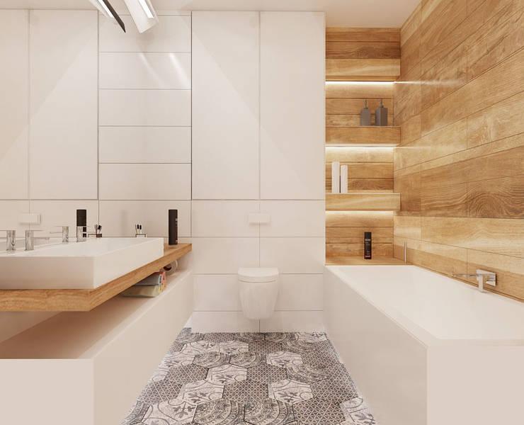 Baños de estilo  por Ale design Grzegorz Grzywacz