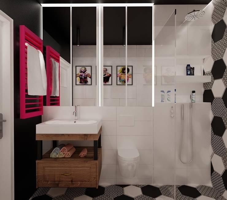 Projekt mieszkania 55m2 w Poznaniu: styl , w kategorii Łazienka zaprojektowany przez Ale design Grzegorz Grzywacz