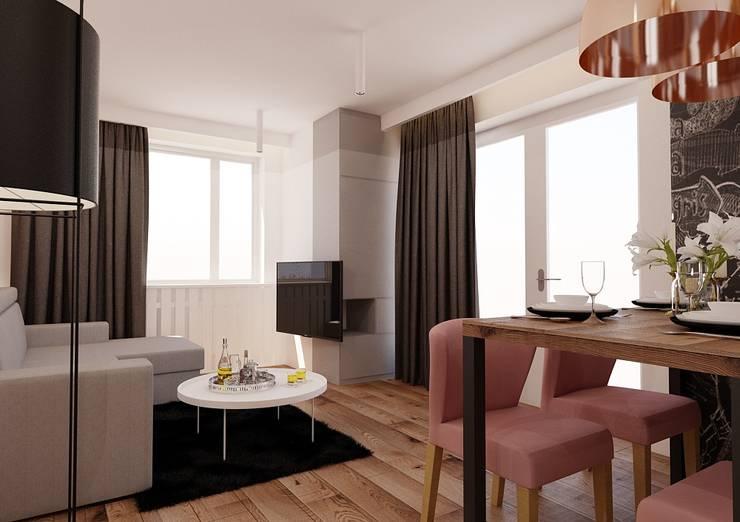 Ruang Keluarga oleh Ale design Grzegorz Grzywacz, Eklektik