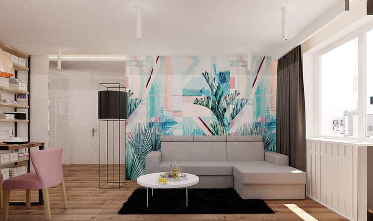 Ruang Keluarga oleh Ale design Grzegorz Grzywacz, Modern