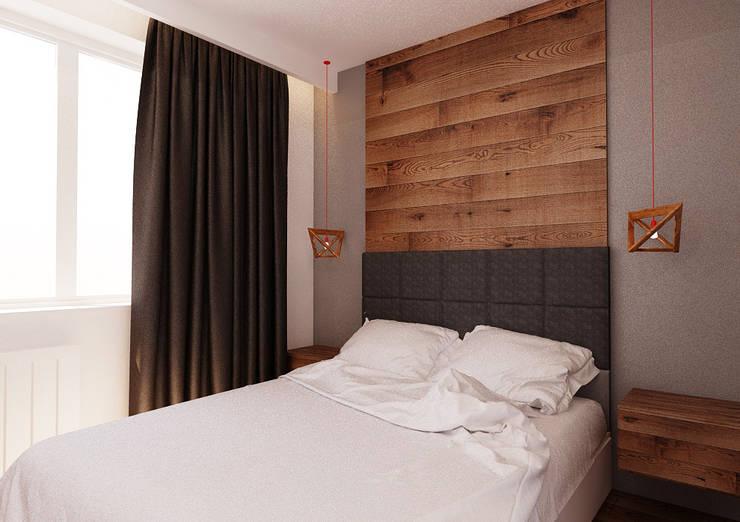 Projekt mieszkania 55m2 w Poznaniu: styl , w kategorii Sypialnia zaprojektowany przez Ale design Grzegorz Grzywacz