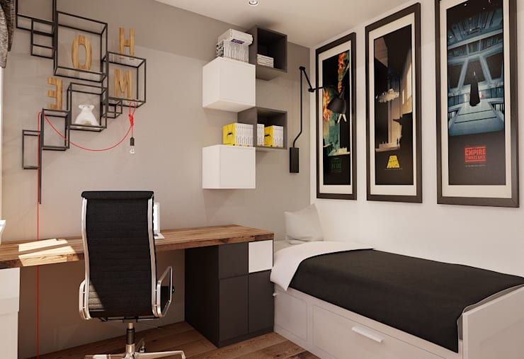 Projekt mieszkania 55m2 w Poznaniu: styl , w kategorii Pokój dziecięcy zaprojektowany przez Ale design Grzegorz Grzywacz