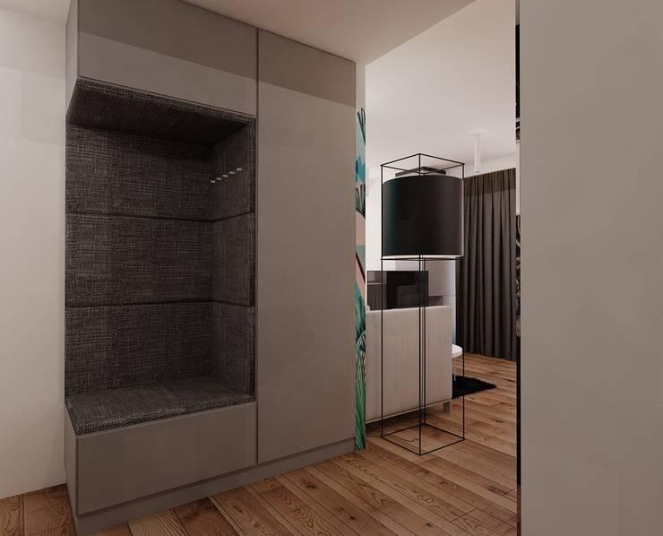 Projekt mieszkania 55m2 w Poznaniu: styl , w kategorii Korytarz, przedpokój zaprojektowany przez Ale design Grzegorz Grzywacz