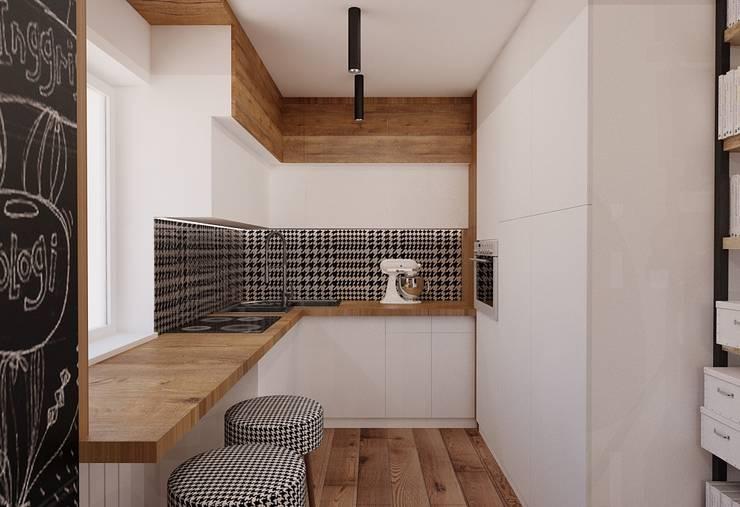 Projekt mieszkania 55m2 w Poznaniu: styl , w kategorii Kuchnia zaprojektowany przez Ale design Grzegorz Grzywacz