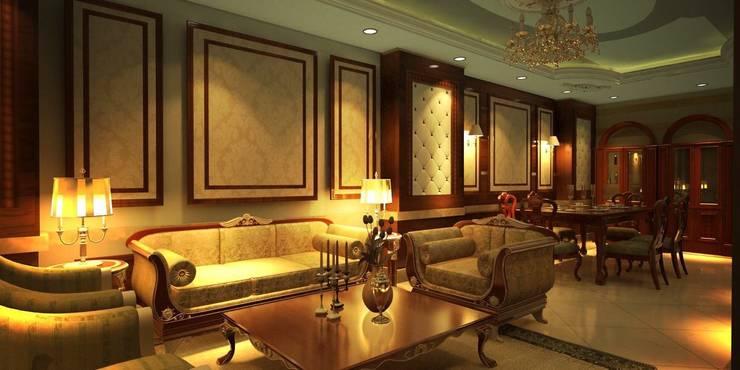 Living room by القصر للدهانات والديكور