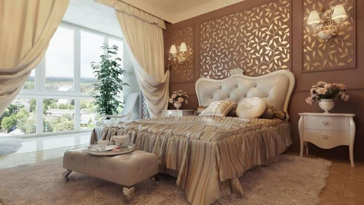 غرفة نوم تنفيذ القصر للدهانات والديكور