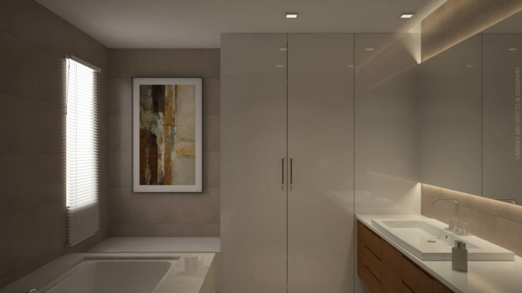 Bathroom storage - wardrobe: asian  by Vaibhav Patel & Associates,Asian Plywood