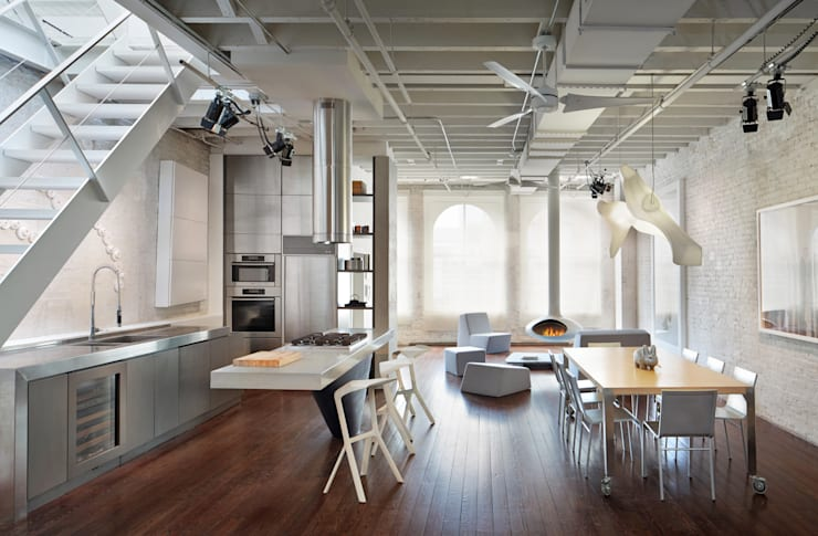 Soho Penthouse:  Kitchen by SA-DA Architecture