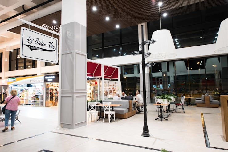 oğuzhan aydoğdu iç mimarlık – la dolgevita cafe bistro:  tarz Yeme & İçme