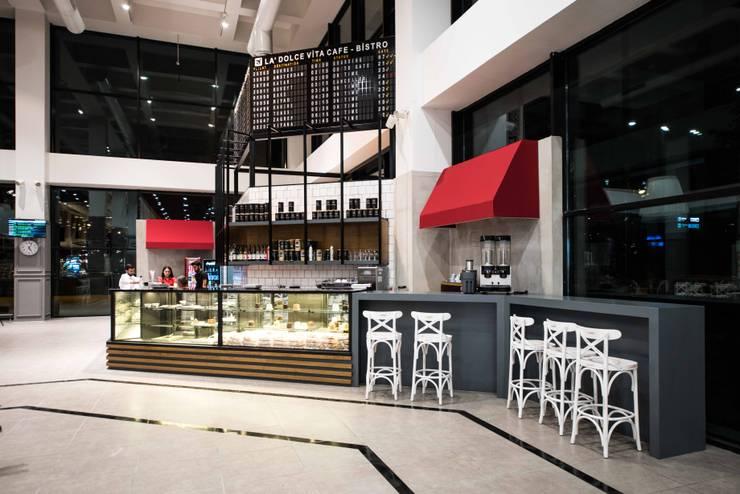 oğuzhan aydoğdu iç mimarlık – la dolgevita cafe bistrot:  tarz Yeme & İçme