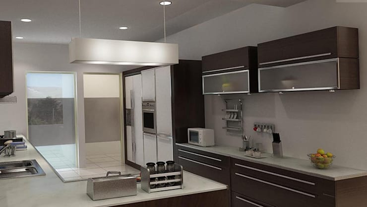 MODERN KITCHEN DESIGN: modern Kitchen by ABHISHEK DANI DESIGN