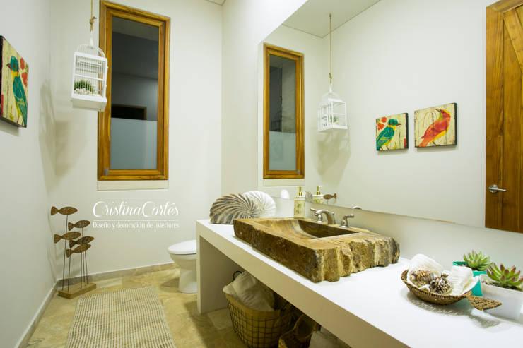 حمام تنفيذ Cristina Cortés Diseño y Decoración