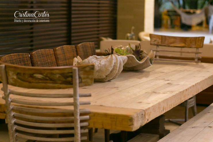 غرفة السفرة تنفيذ Cristina Cortés Diseño y Decoración