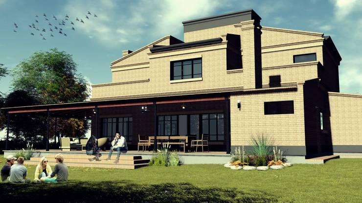 Vivienda Estilo Campo: Casas de estilo  por Alejandro Acevedo - Arquitectura