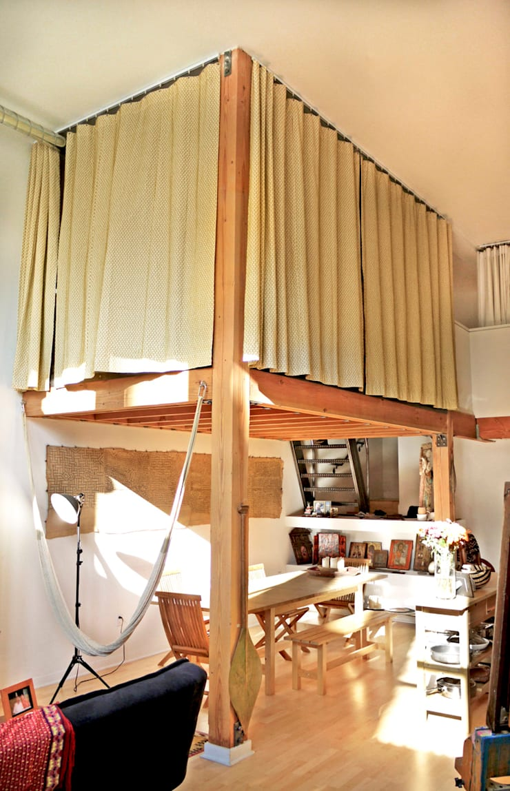 Loft LA - Juan Carlos Loyo Arquitectura: Pasillos y recibidores de estilo  por Juan Carlos Loyo Arquitectura