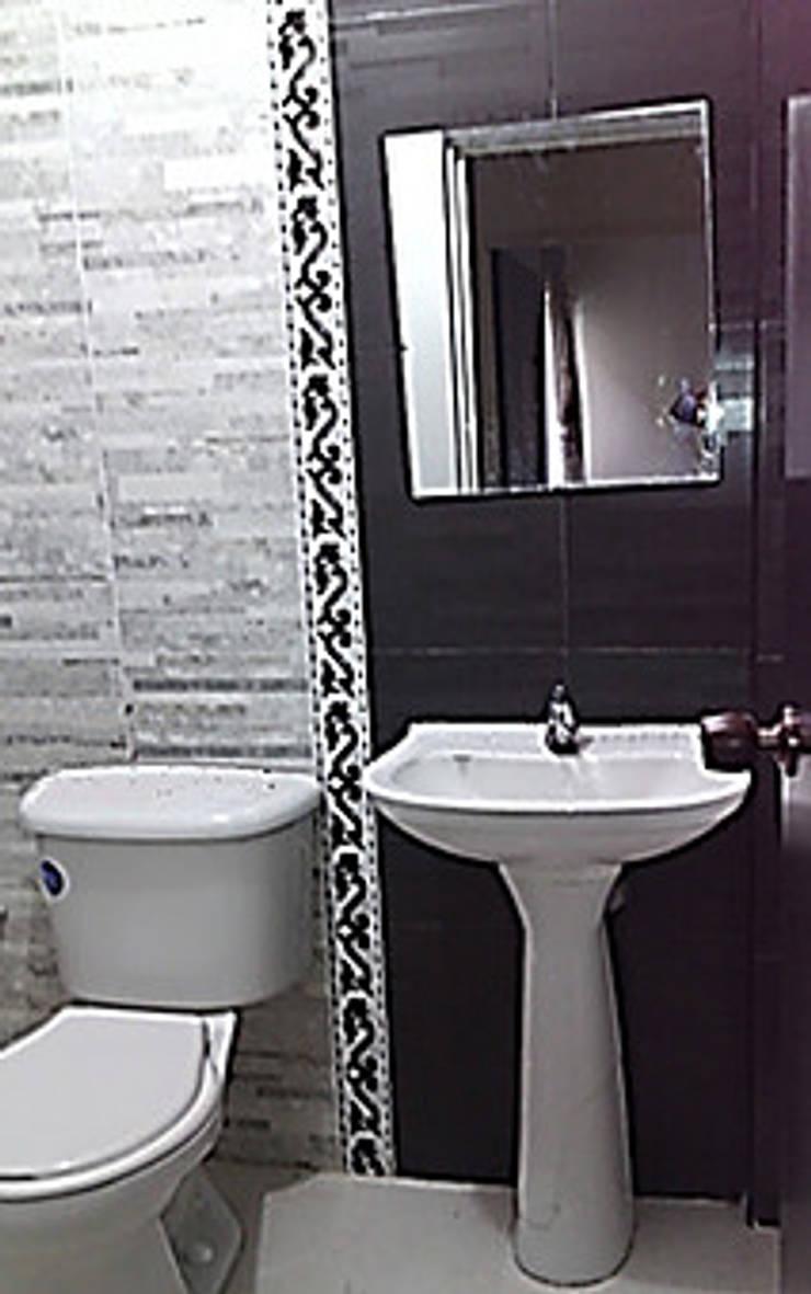 Apto 401: Baños de estilo rural por ECODISEÑO MUÑOZ S.A.S.