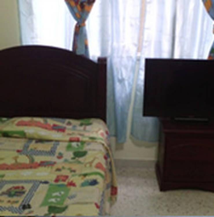 Apto 401: Habitaciones de estilo rural por ECODISEÑO MUÑOZ S.A.S.