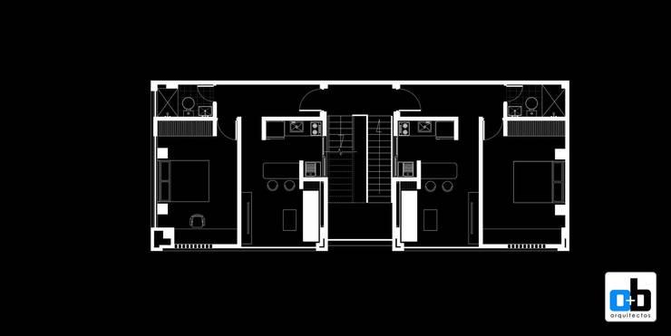 La Triada:  de estilo  por O+B ARQUITECTOS, Moderno