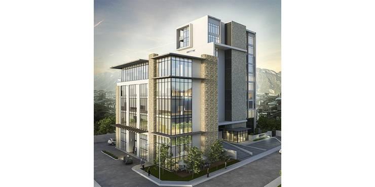 Renders/Logo/Description Edificios de oficinas de estilo moderno de Convirtus BIM Moderno