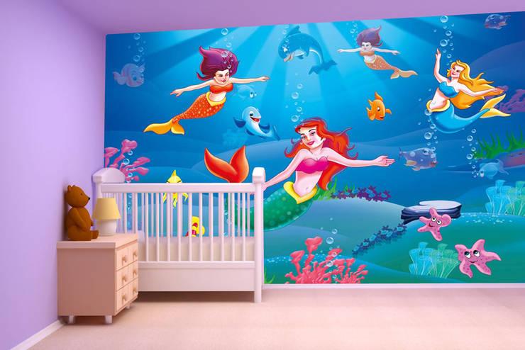 Cartoon, Galaxy, Fantasy wallpaper designs for kids room and home interiors . Walls and Murals:   by wallsandmurals