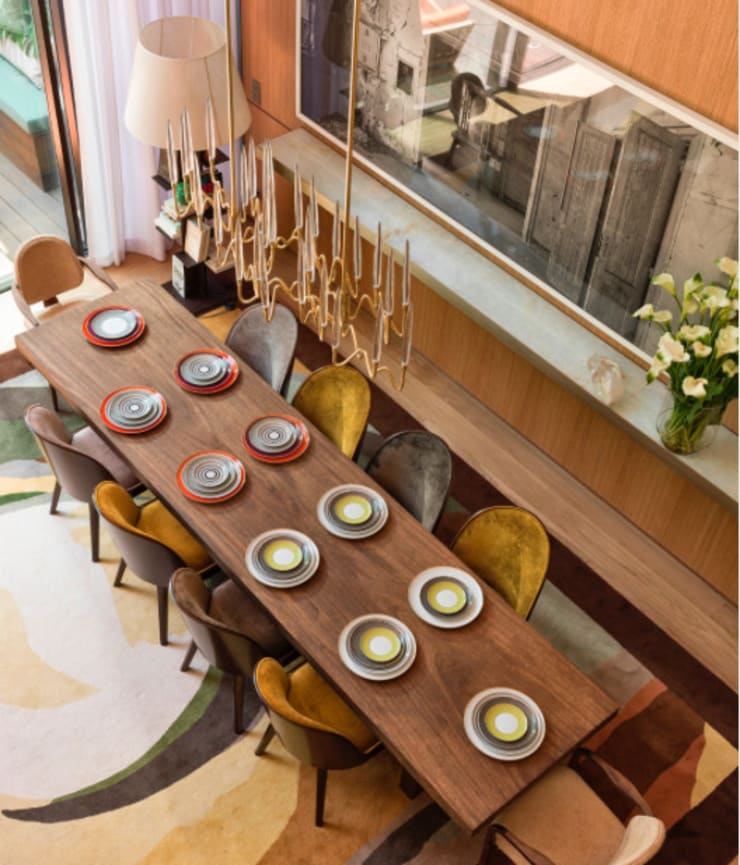 Philippe Starck presents his new project for Rosewood Sao Paulo at Cidade Matarazzo: modern Dining room by Il Pezzo Mancante Srl