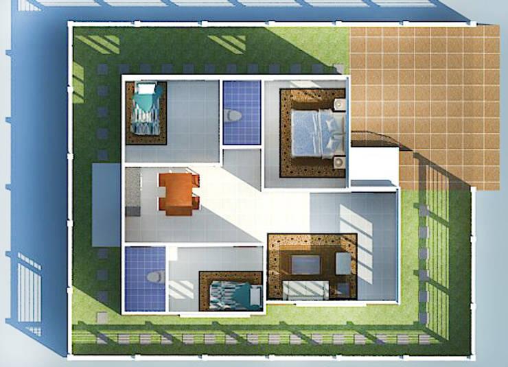 บ้านหลังคาปีกนก 3 ห้องนอน 2 ห้องน้ำ :   by Freelance Chanudom