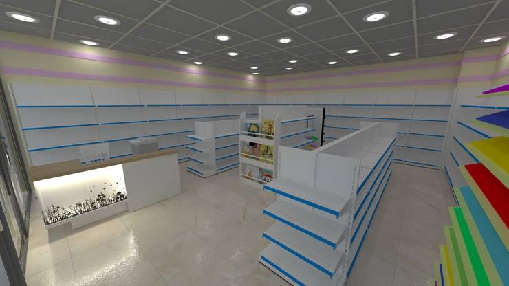 MAG Tasarım Mimarlık İnşaat Emlak San.ve Tic.Ltd.Şti. – Kırtasiye 3D Çerkezköy: modern tarz , Modern