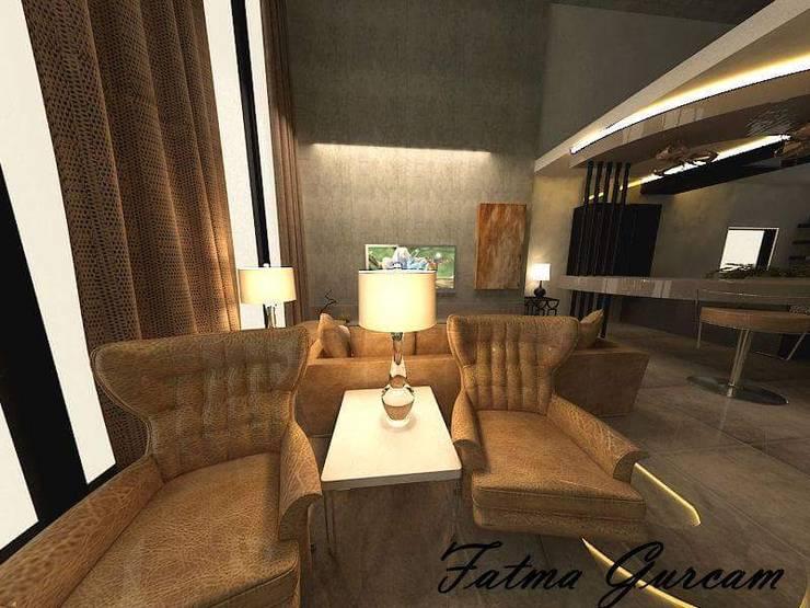 Fatma Gürçam İçmekan Tasarım ve Uygulama – Penthouse: modern tarz , Modern Deri Gri