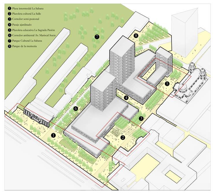 Concurso de Ideas Plan Parcial La Sabana, Bogotá. Primer lugar:  de estilo  por Pequeña Escala Arquitectura