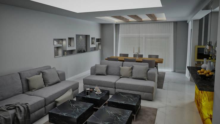 modern Living room by Ramazan Yücel İç mimarlık
