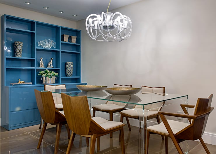 eclectic Dining room by Milla Holtz Arquitetura